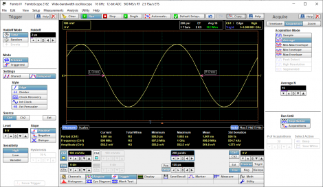 1 GHz sinewave, TB accuracy